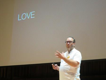 جيمي ويلز يتحدث في ويكيمانيا 2014